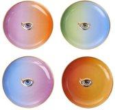 L'OBJET - Lito-Eye set of 4 Cocktail Plates - 4 Colours