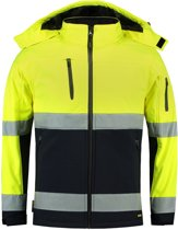Tricorp Soft Shell Jack EN471 bi-color - Workwear - 403007 - fluor geel / navy - Maat XL