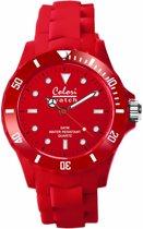 Colori Classic 5 COL011 Horloge - Siliconen Band - Ø 40 mm - Rood