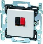 NIKO Original White inbouw luidspreker stopcontact - enkelvoudig