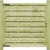 vidaXL Poorten 2 st 150x150 cm FSC geïmpregneerd grenenhout groen