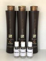 Honma Tokyo Coffee Premium Japanse Keratine Treatment 1 Behandeling 3x80ml Shampoo&Treatment&Masker