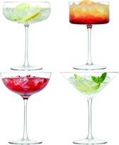 LSA Lulu Cocktailglazen - Set van 4 Stuks - 200 tot 310 ml