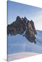Prachtig uitzicht op de Aiguille du Midi berg Canvas 80x120 cm - Foto print op Canvas schilderij (Wanddecoratie woonkamer / slaapkamer)