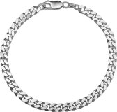 The Jewelry Collection For Men Armband Geslepen Gourmet 5,0 mm - Zilver