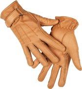 HKM Leren handschoen van nappaleder beige XS
