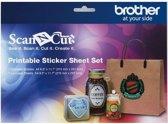 ScanNCut Printbare Set Stickervellen - A4