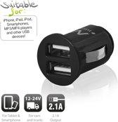 Ewent 2-Poorts USB Mini Autolader 2.1A