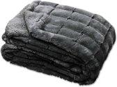 Unique Living Xavi - Fleece plaid - 130x160 cm - Dark grey