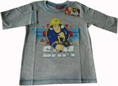 Grijs shirt van Brandweerman Sam maat 128