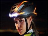Smart Helm / fietshelm met verlichting en richtingaanwijzers, extra veilig voorlicht, achterlicht en knipperlichten om richting aan te geven, grijs , merk BEACTIFF
