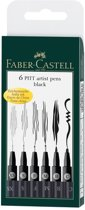 Tekenstift Faber-Castell Pitt Artist Pen 6 stuks