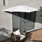 Parasol halfrond voor balkons of terrassen - Wit