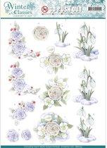 Jeanine's Art - Winter Classics - Sneeuw Bloemen - 3D Uitdrukvel