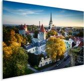 Skyline over het Stadshart van Tallinn in Estland Plexiglas 180x120 cm - Foto print op Glas (Plexiglas wanddecoratie) XXL / Groot formaat!