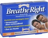 Breathe Right Large - 10 stuks - Neusstrips - huidskleurig