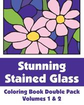 Stunning Stained Glass Coloring Book Double Pack (Volumes 1 & 2)