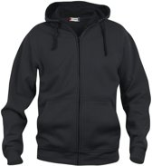 Clique Basic hoody full zip Zwart maat L