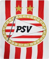 Psv Plaid Fleece Rood/wit 130 X 160 Cm
