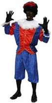 Kostuum Zwarte Piet Blauw Rood Maat 50
