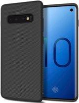 Samsung Galaxy S10 Twill Slim Texture Back Cover Zwart
