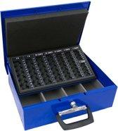 Geldkist voor Euro's - Geldkoffer- Cashbox - Met handvast - Blauw