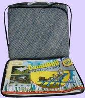 CamoBob - Schaduwnet driehoek - 420x420x420 - Grijs/blauw