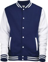 AWDis Varsity jacket, Oxford Navy/White, Maat XXL