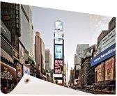 Zonsopgang Times Square Tuinposter 200x100 cm - Tuindoek / Buitencanvas / Schilderijen voor buiten (tuin decoratie) XXL / Groot formaat!