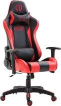 Clp Boavista - Racing bureaustoel - Kunstleer - zwart/rood zonder voetsteun