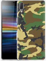 Sony Xperia L3 Hoesje Army Camouflage Green