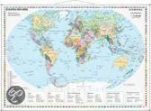 Staaten der Erde im Miniformat. Wandkarte mit Metallleiste 1:60000000