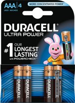 Duracell AAA Ultra Power - 4 -  Alkaline Batterijen