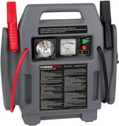 Powerplus POWE80090 4-in-1 Jumpstarter (12V energievoorziening/starthulp/compressor/licht) - Max. 17 bar
