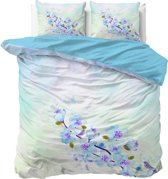 Sleeptime Katoen Sweet Flowers - Dekbedovertrekset - Lits-Jumeaux - 240x200/220 + 2 kussenslopen 60x70 - Blauw