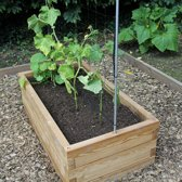 XL modulaire houten plantenbak van duurzaam larikshout | L 107 x B 57 x H 25 cm