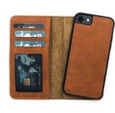 Dutchic Lederen Apple iPhone 7 / 8 Hoesje (Tweedelige ontwerp: Book Case / Hardcase - bruin)