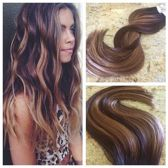 Clip In Hairextensions  'Milk Chocolate