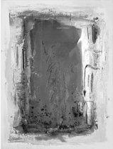 Schilderij antraciet abstract 90x120