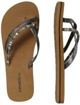 O'neill FW Queen II  zilver/zwart slippers dames (8A9534-9010)