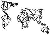 FBRK. Ram 54 x 80 cm  Taupe - Geometrische dieren -Wanddecoratie