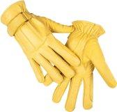 HKM Leren handschoen van nappaleder geel S