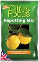 Citrus Focus Repotting Mix - 2 liter gebalanceerde compost voor gezonde citrusbomen