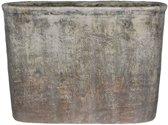 Mica Decorations Lucas ovalen pot gebroken wit maat in cm: 45 x 17,5 x 32