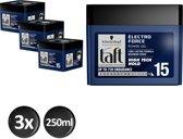 Schwarzkopf Taft Electro Force Cubus 250 ml - 3 stuks - Voordeelverpakking