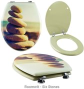 WC Bril, toiletbril met fotoprint-Roomwit - Six Stones