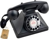 GPO 200 Zwarte Telefoon met draaischijf, jaren '50 design