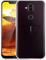 Nokia 8.1 Hoesje Abstract Moon Black
