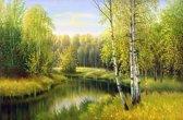 Papermoon River in Autumn Day Vlies Fotobehang 250x186cm 5-Banen
