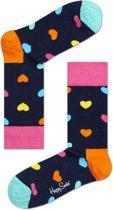 Happy Socks Heart Sokken - Blauw - Maat 41-46
